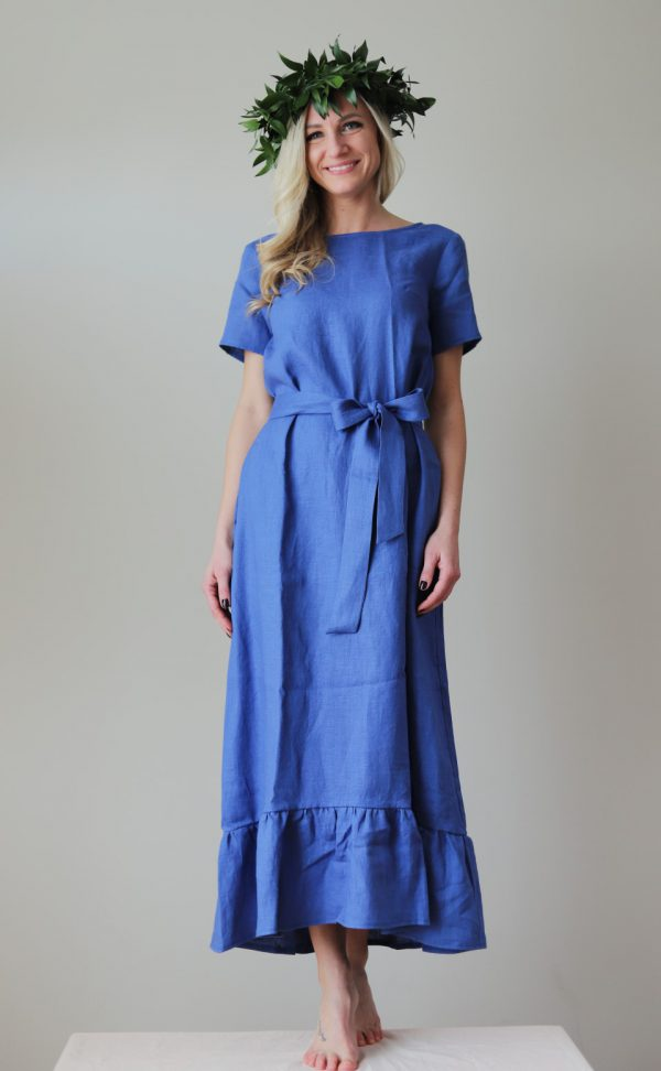 Gārā lina kleita Dancot gāju